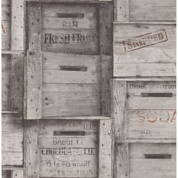 Picture of Wood Crates Grey Distressed Wood