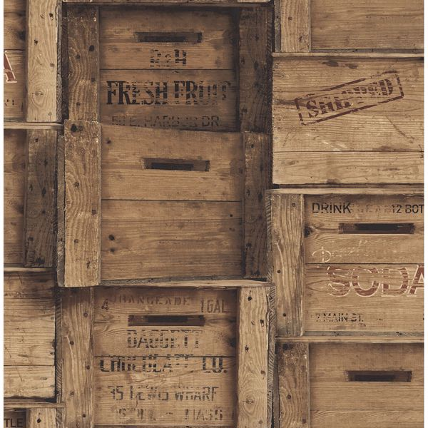 Picture of Wood Crates Brown Distressed Wood