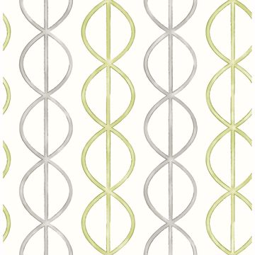 Picture of Banning Stripe Green Geometric