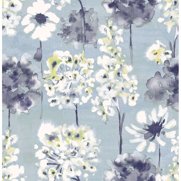 Picture of Marilla Blueberry Watercolor Floral