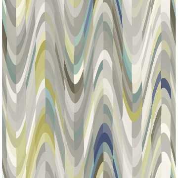 Picture of Aurora Blue Geometric Wave