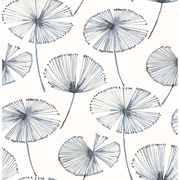 Picture of Paradise Navy Fronds