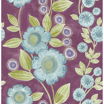 Picture of Bloom Plum Floral