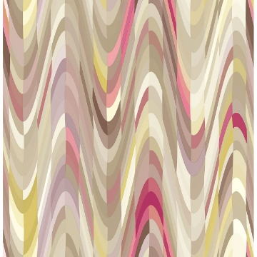 Picture of Aurora Pink Geometric Wave