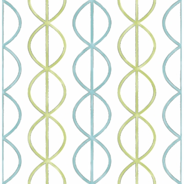 Picture of Banning Stripe Aqua Geometric