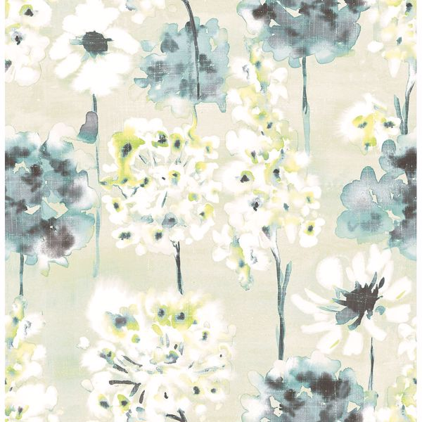 Picture of Marilla Aquamarine Watercolor Floral