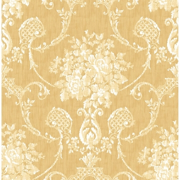 Picture of Winsome Mustard Floral Damask