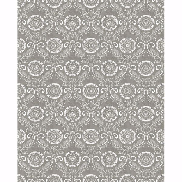 Picture of Jubilee Grey Medallion Damask