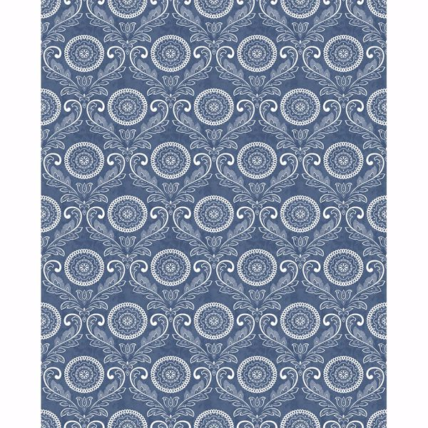 Picture of Jubilee Blue Medallion Damask