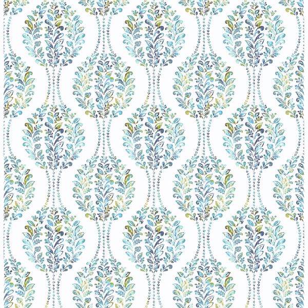 Picture of Versailles Teal Floral Damask