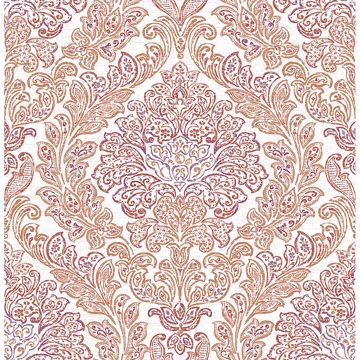 Picture of Fontaine Orange Damask