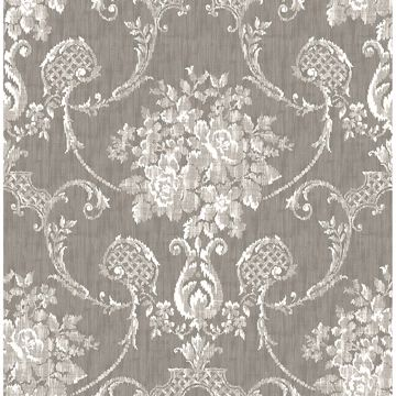 Picture of Winsome Grey Floral Damask