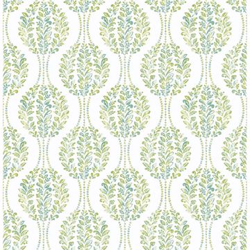 Picture of Versailles Green Floral Damask