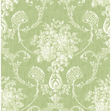 Picture of Winsome Green Floral Damask