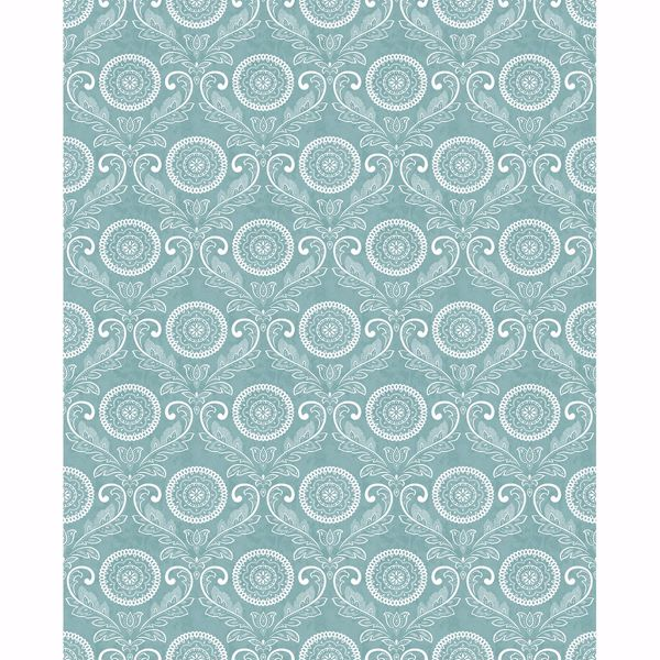 Picture of Jubilee Teal Medallion Damask