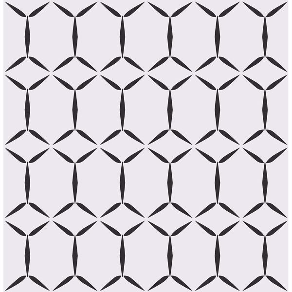 Fusion White Geometric Wallpaper