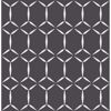 Picture of Fusion Black Geometric Wallpaper