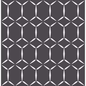 Picture of Fusion Black Geometric Wallpaper