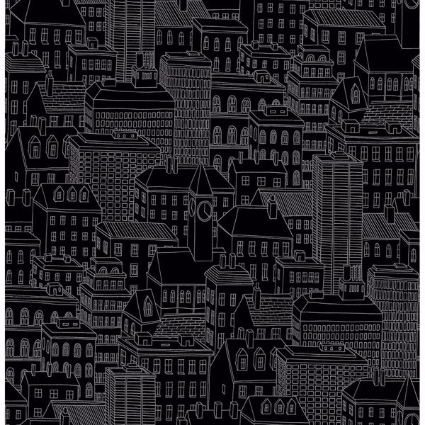 Picture of Limelight Black City Wallpaper