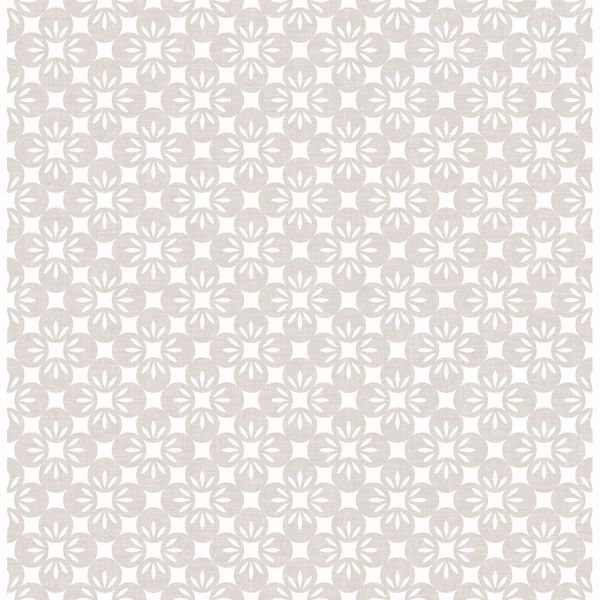 Picture of Orbit Neutral Floral Wallpaper