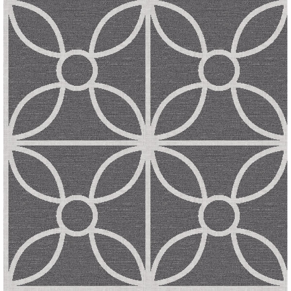 Picture of Savvy Black Geometric Wallpaper