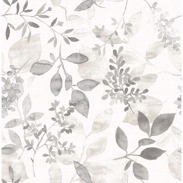 Picture of Gossamer Grey Botanical Wallpaper