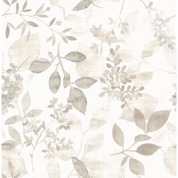 Picture of Gossamer Taupe Botanical Wallpaper