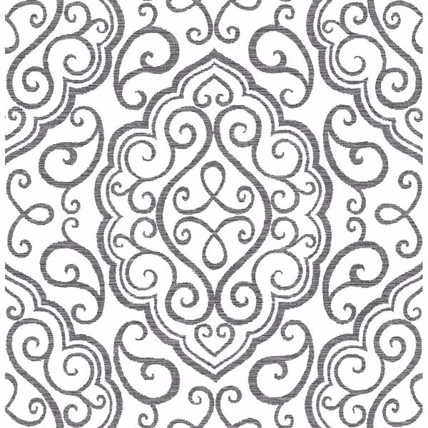 Picture of Heavenly Black Damask Wallpaper