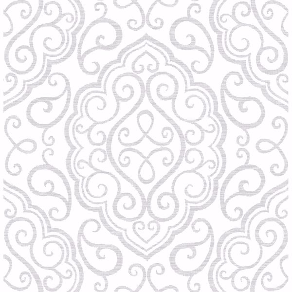 Picture of Heavenly Dove Damask Wallpaper