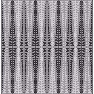 Picture of Stellar Grey Floral Stripe Wallpaper