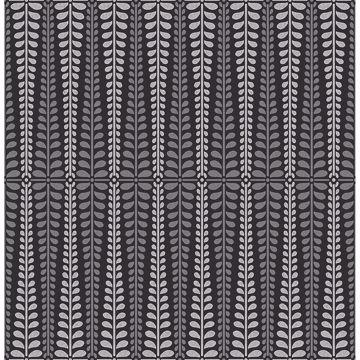 Picture of Stellar Black Floral Stripe Wallpaper