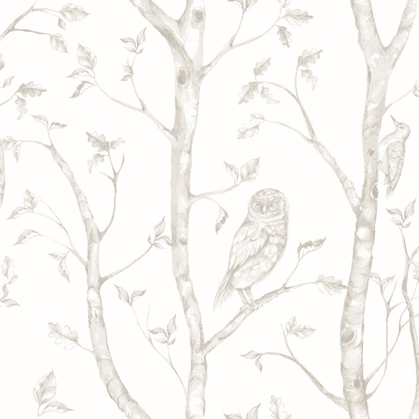 Picture of Neptune Taupe Forest Wallpaper