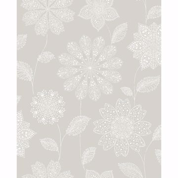 Picture of Panache Taupe Floral Wallpaper