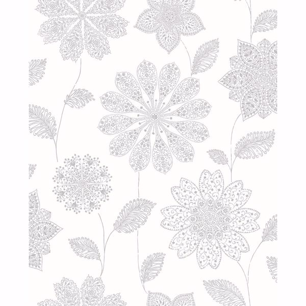 Picture of Panache Grey Floral Wallpaper