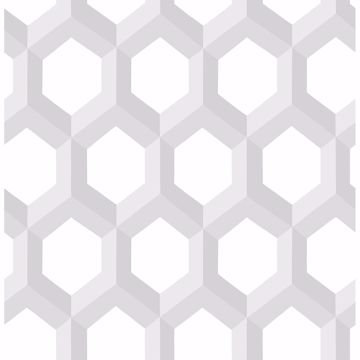 Picture of Hex Grey Geometric Wallpaper