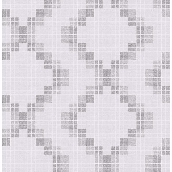 Picture of Mosaic Grey Grid Wallpaper