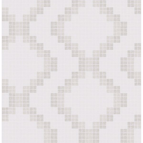Picture of Mosaic Taupe Grid Wallpaper