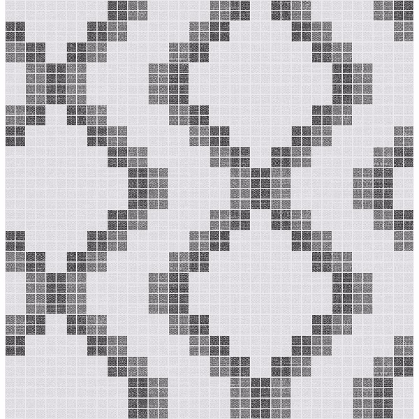 Picture of Mosaic Black Grid Wallpaper