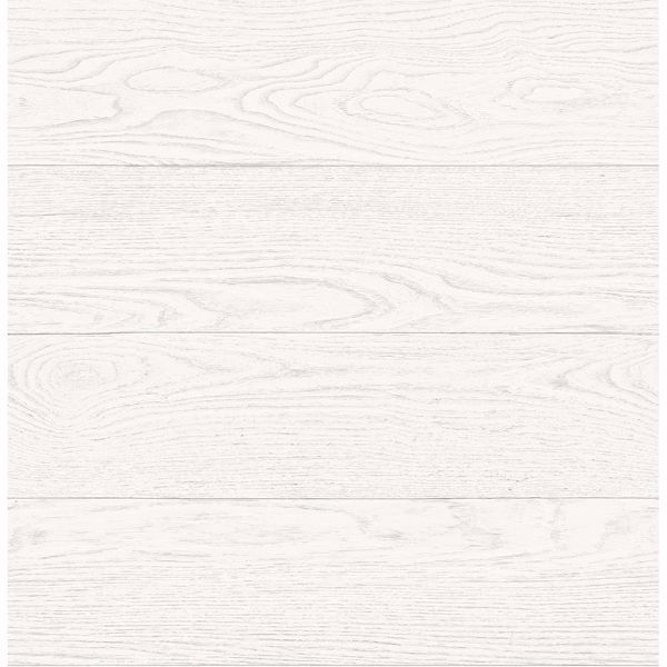 Picture of Salvaged Wood White Plank Wallpaper