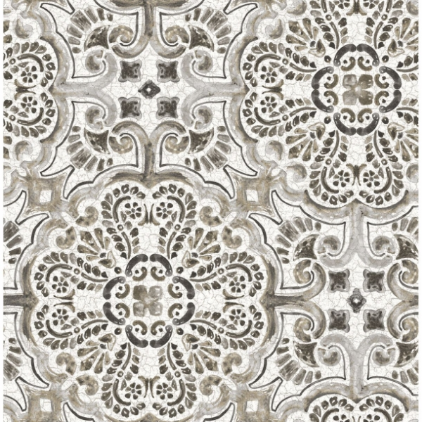 Picture of Florentine Grey Tile Wallpaper