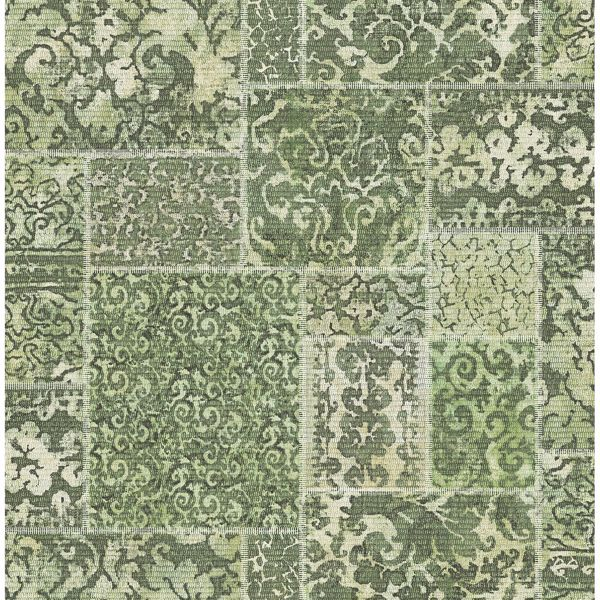 Picture of Esma Green Vintage Carpet Wallpaper