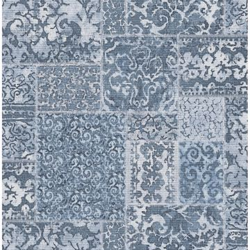 Picture of Esma Blue Vintage Carpet Wallpaper