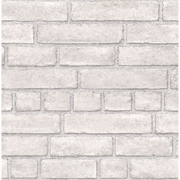 Picture of Façade Dove Brick Wallpaper