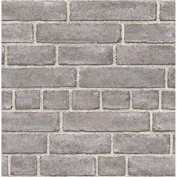 Picture of Façade Grey Brick Wallpaper