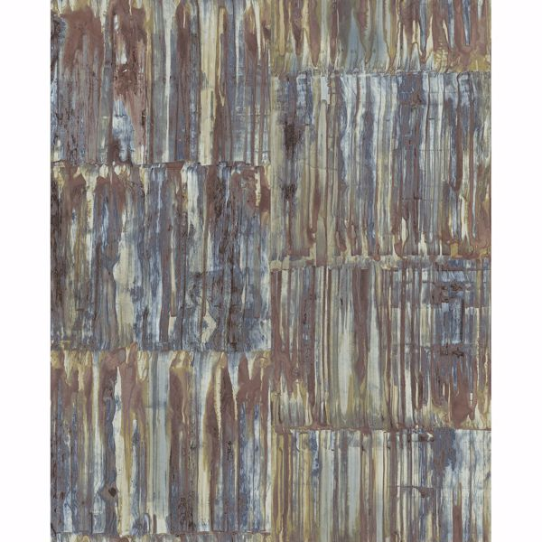 Picture of Patina Panels Multicolor Metal Wallpaper