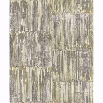 Picture of Patina Panels Yellow Metal Wallpaper