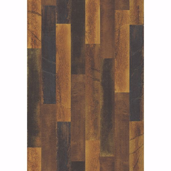 Picture of Antique Floorboards Brass Wood Wallpaper