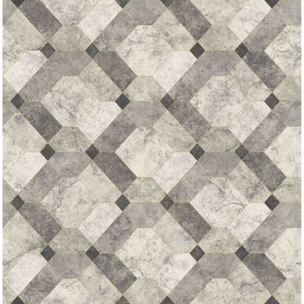 Picture of Devonshire Grey Marble Wallpaper
