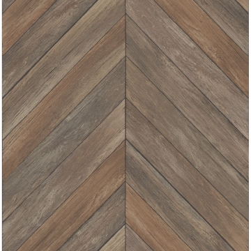 Picture of Parisian Brown Parquet Wallpaper
