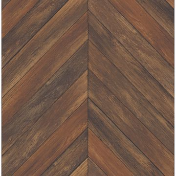 Picture of Parisian Chestnut Parquet Wallpaper